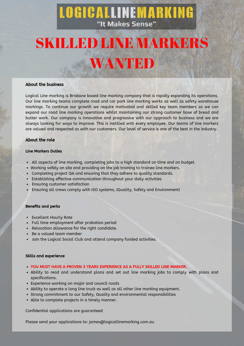 Logical Line Marking Position Advertisement